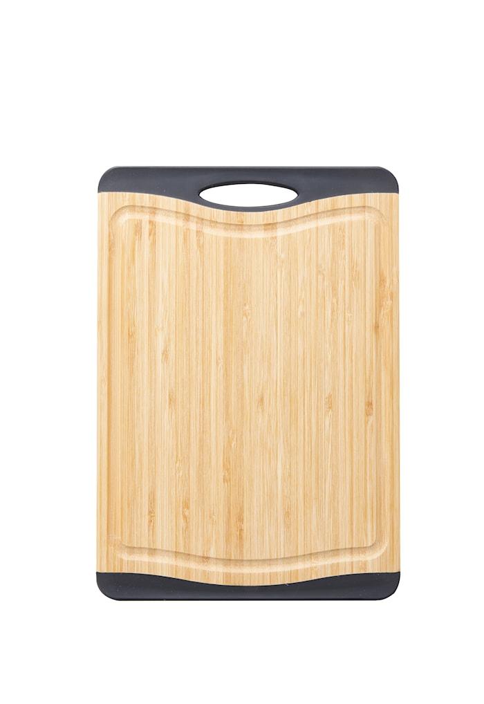 Cora Skärbräda bambo svarta silikon kanter non-slip 33,23 cm