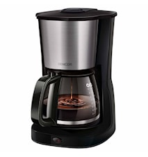Kaffebryggare Svart / Rostfritt stål