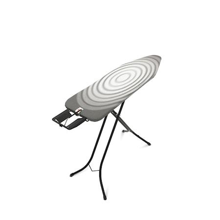 Strykbord Stl B med Ångstrykjärnshållare svart ram 22mm 124x38 cm Titan Oval