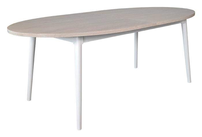 Asperö ovalt spisebord med ekstraplade
