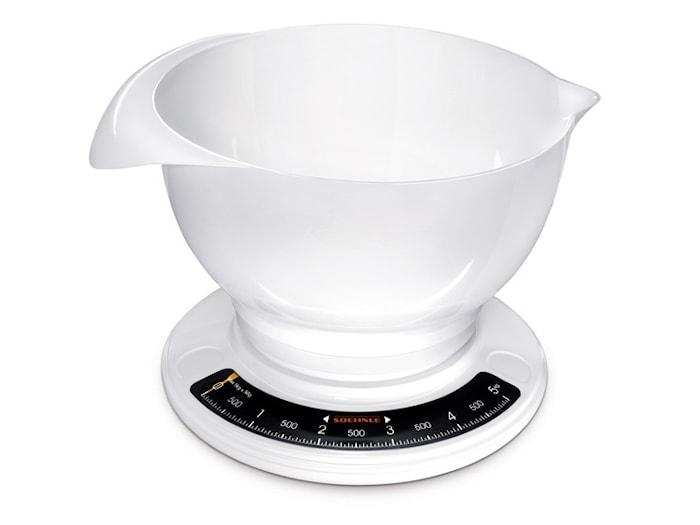 Køkkenvægt og skål