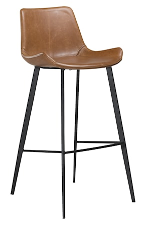 Barstol Hype Konstläder - Vintage Ljusbrun