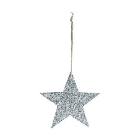 Ornament Glitter Ø 8 cm Silver