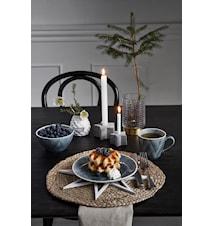 Ceramic pine cone vase, black