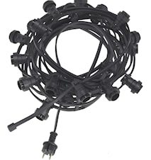Bright light string 20 Black 12m