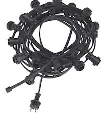 Bright light string 20 Svart 12m