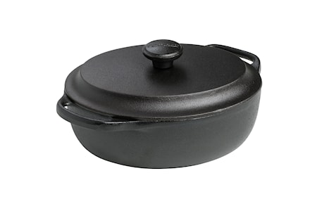 Gryta Oval med järnlock 2 liter