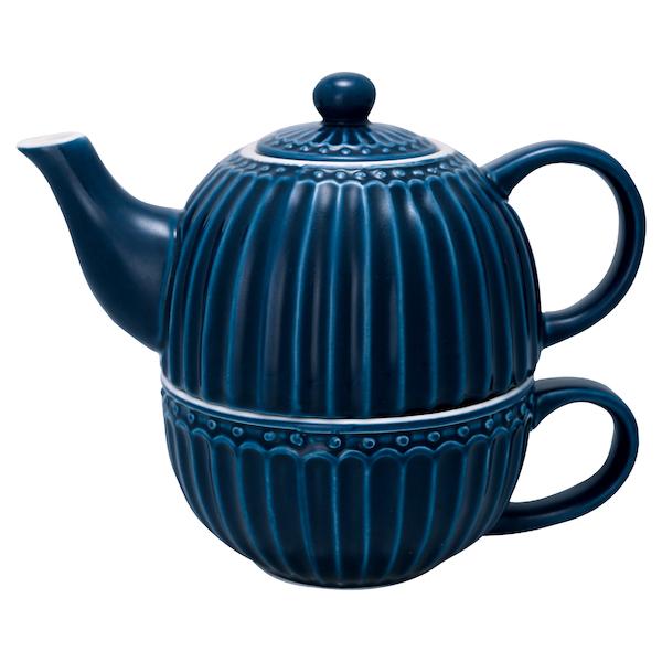 Alice Tea for one Mörkblå