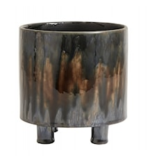 Pot with Stand Dark Brown Small