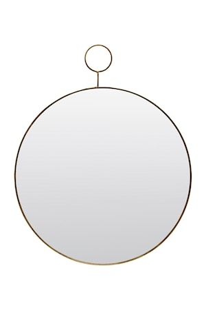 Spegel The Loop Ø 38 cm Mässing