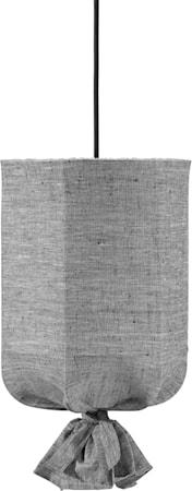 Round Takskjerm Lin Gråsvart 40cm