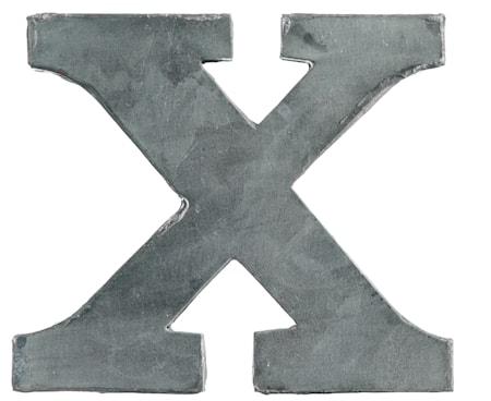 Zinc letter; X
