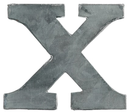 Bogstav X 5,5 cm - Zink