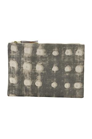 Sminketaske Dots 23x16 cm - Grå