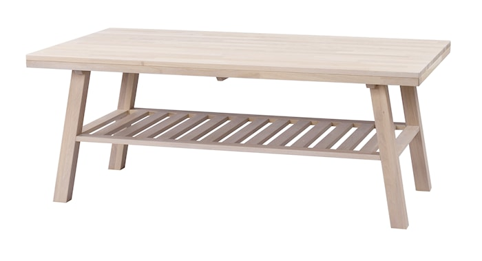 Brooklyn Soffbord Vitpigmenterad Ek 130x75 cm