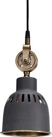 Cleveland Taklampa JakoGrå/Mässing 14cm