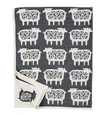 Black sheep chenilletæppe - Grå