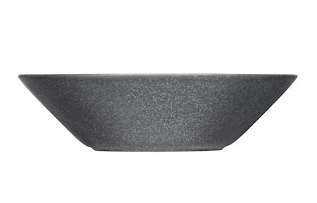 Teema lautanen syvä 21 cm meleerattu harmaa