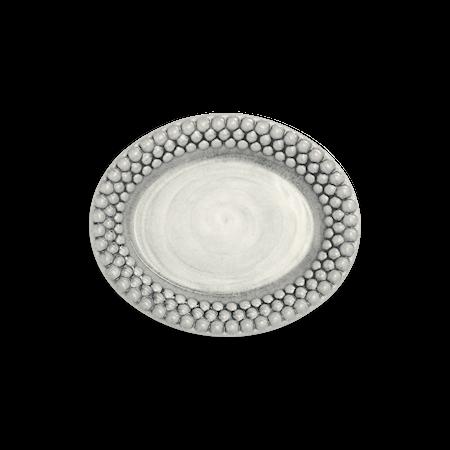 Bubbles Oval Tallrik Grå 20 cm