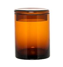 Beholder med låg Brun Glas 9x12cm