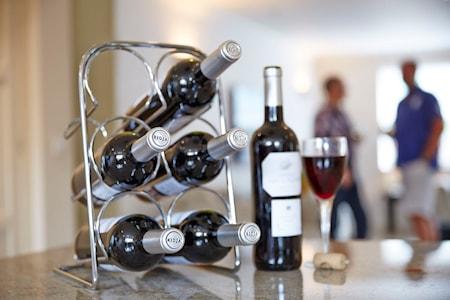 Pisa Viinipulloteline 6 pullolle kromia