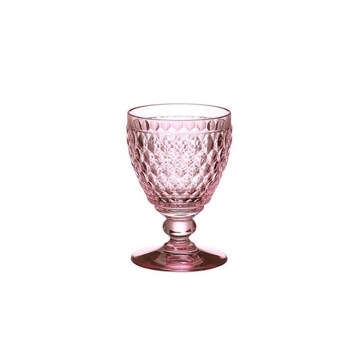 Boston Coloured White wine Goblet Rose