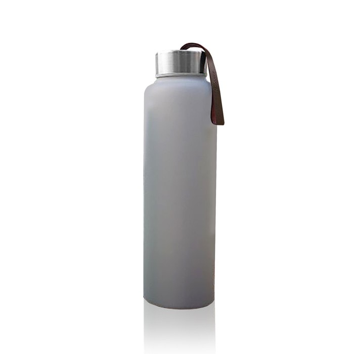 Vattenflaska i Glas med Splitterskydd Grå