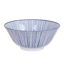 Nippon Blue Tayo Bowl Lines 15 cm