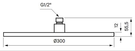 ZSOF079 Taksil 30cm Rund Mässing