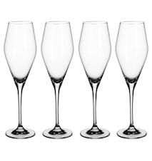 La Divina Champagne flute, Set 4pcs