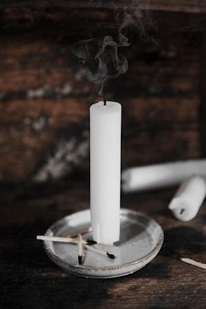 Lasitettu Kynttilänalunen piikillä Valkoinen