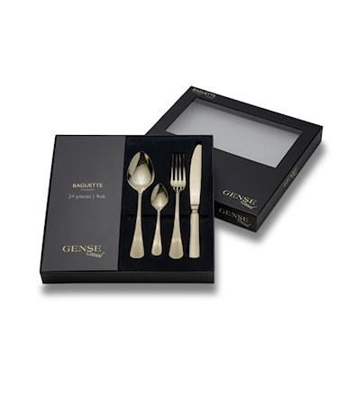 Gense Baguette Champagne Bestickset 24-pdelar Guld