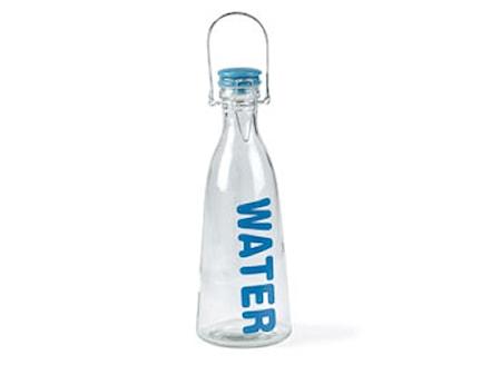 Flaska med lock 1L Blå