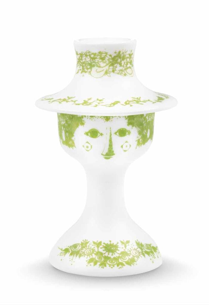 Lysestage, Felicia, grøn, H 13,5 cm