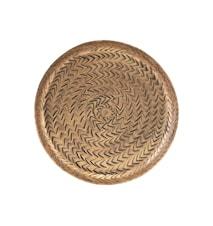 Bricka Rattan Brass 16 cm