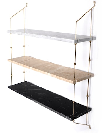 Morse shelve hylla Carrara/Sand/Black/Brass