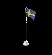 Bandera sueca de sobremesa A35 color plateado