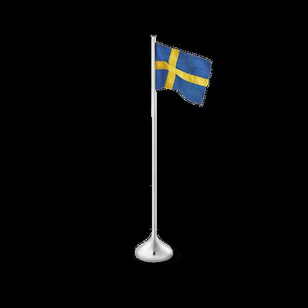 Bordsflagga svensk H35 silverfärgad