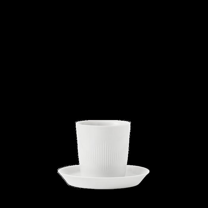 Thermodan Termokop med tallerken Hvidt Porcelæn 12 cl