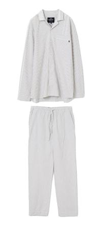Organic Pyjamas Grå/Vit Large