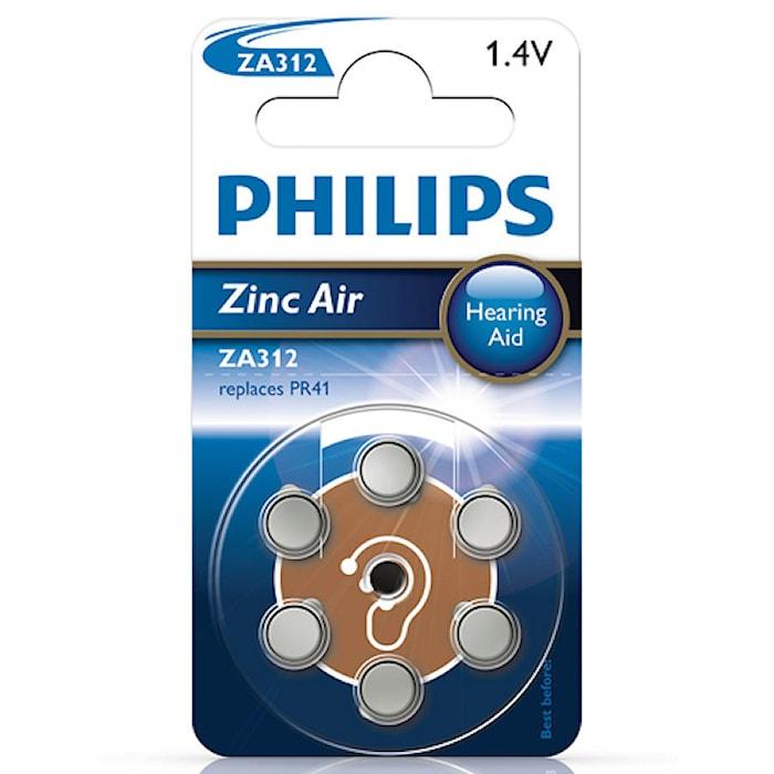 Fashion ZA312 1.4V 6-P til høreapparater