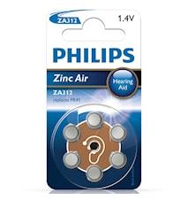 Fashion ZA312 1,4V 6-p til høreapparat