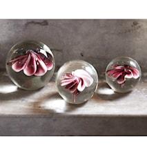 Glasboll Blomma L