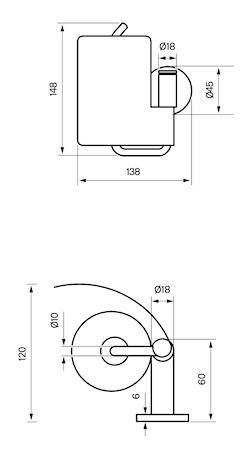 Toiletpapirsholder