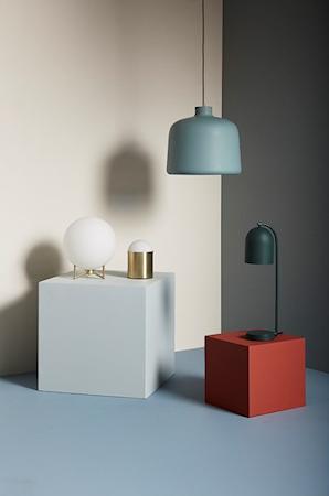 Bordslampa Glas/Mässing ø12xh19cm