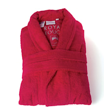 Morgonrock Royal Touch Bright Red XXL