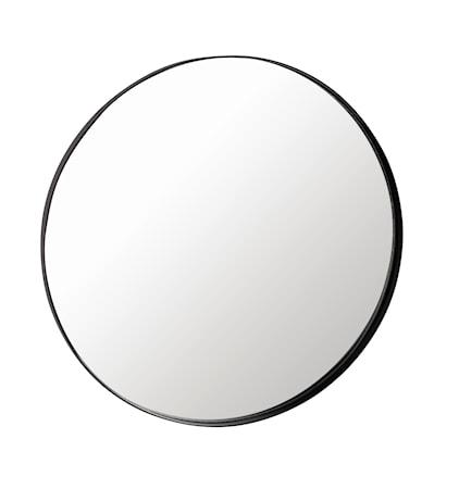Väggspegel svart rund diameter 40 cm