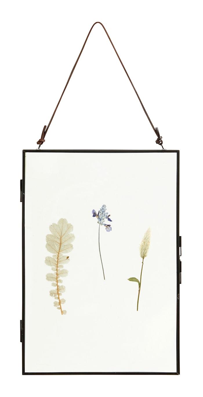 Meta Ram med Torkade blommor Vertikal Svart