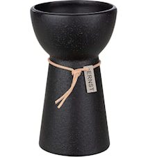 Maljakko sipulikasveille Kivitavara Musta 15 cm