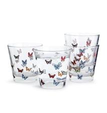 Butterfly Glass 4 Stk